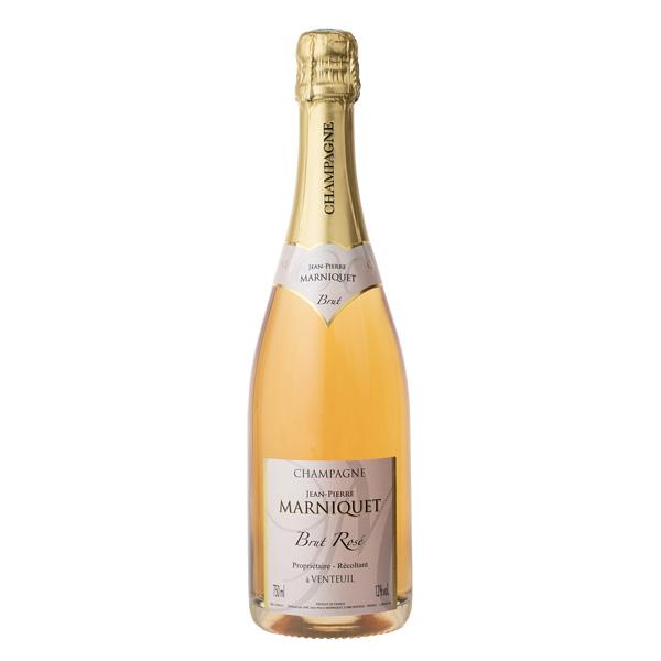 Bouteille de champagne rosé