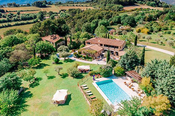 vue aérienne drone vaucluse-provence tourisme immobilier